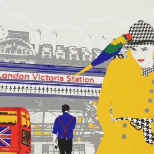 Richard Ryan - Silkescreentryck - London Victoria Station