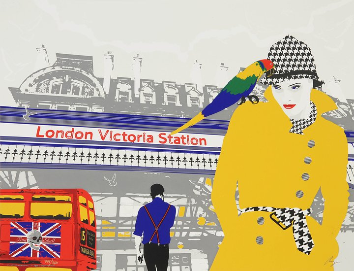 Richard Ryan - Silkescreentryck - London Victoria Station