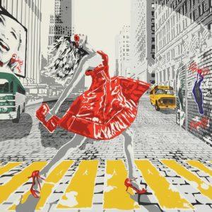 Richard Ryan - Silkescreentryck - Red Dress