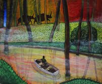 Christopher Scott - Oljemålning - Spotting Elasmotheria II
