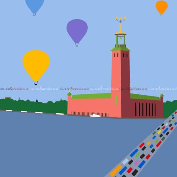 KG Nilson - Litografi - Stadshuset