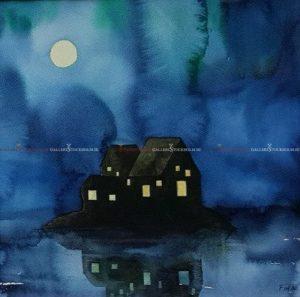 Josefina Wendel Carlsson - Akvarell - Stillness