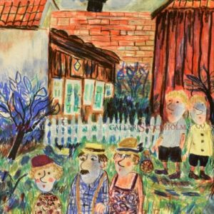 Sven Lidberg - Familj i trädgården