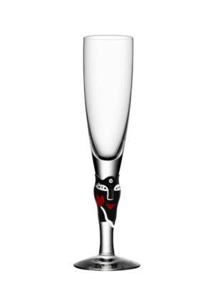 Ulrica Hydman Vallien - Open Minds champagneglas svart