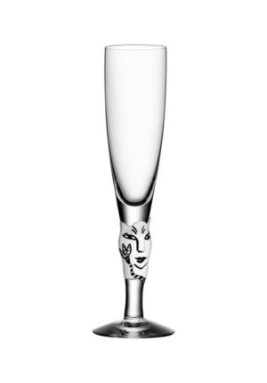 Ulrica Hydman Vallien - Open Minds champagneglas vit