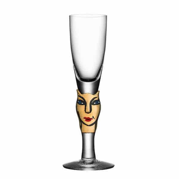 Ulrica Hydman Vallien - Open Minds champagneglas