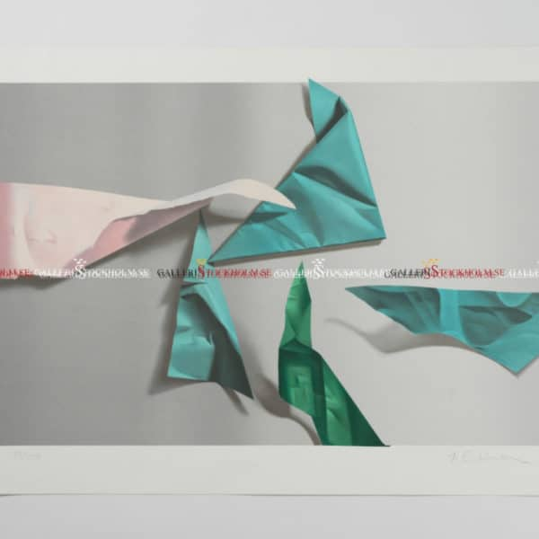 Yrjö Edelmann - Litografi - Pink & Green