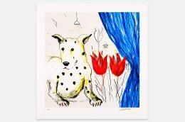 Suzanne Nessim - Litografi - Hunden Väntar på Annat