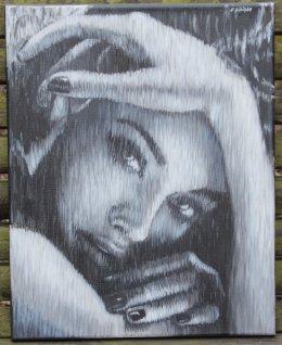 Ewa Sibilska - Oljemålning - Mysterious Girl
