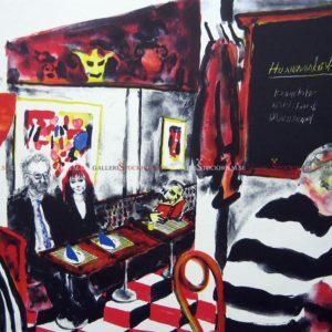 Peter Dahl - Litografi - Bokmalen