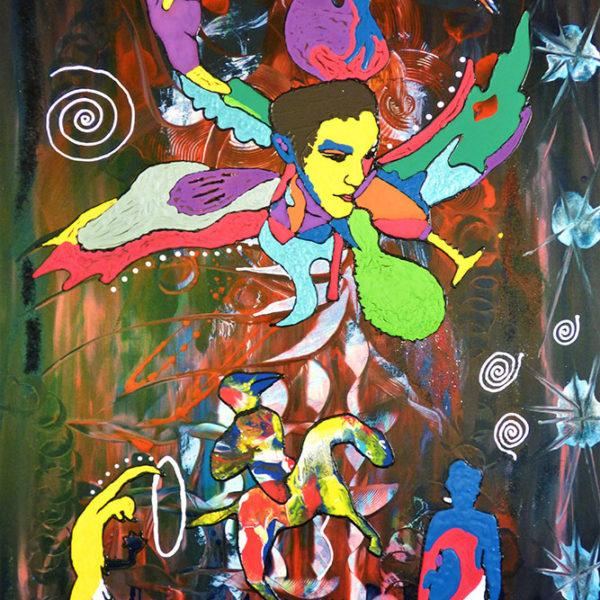 Niclas Thalberg - Oljemålning - Chingis Khan