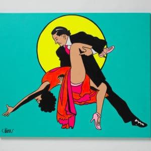 Petter Thoen - Originalmålning - Tango för två
