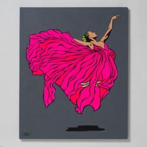 Petter Thoen - Originalmålning - Spirit in Pink