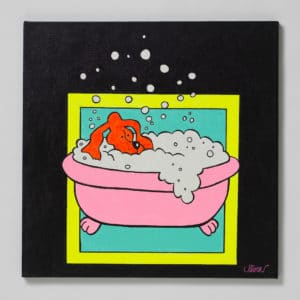 Petter Thoen - Fido taking a bath!