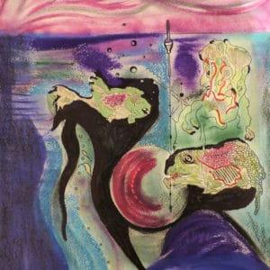 Niclas G Thalberg - Akvarell - Vad finns i havet?