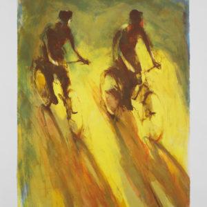 Berndt Wennström - Litografi - Cyklister