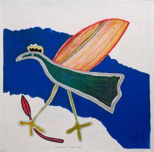 Jeanette Karsten - Joyful Green Bird Strolling