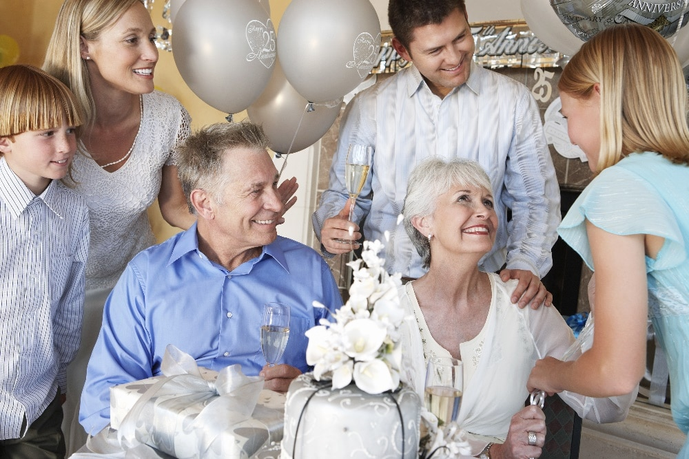 Silverbröllopspresent