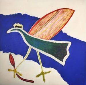 Jeanette Karsten - Green Bird Strolling