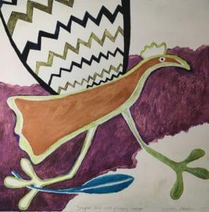 Jeanette Karsten - Terracotta Bird Running