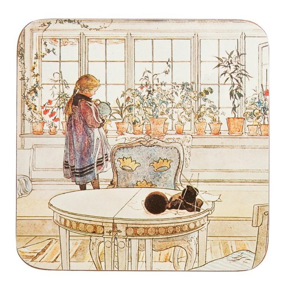 Carl Larsson - Blomsterfönstret - Grytunderlägg
