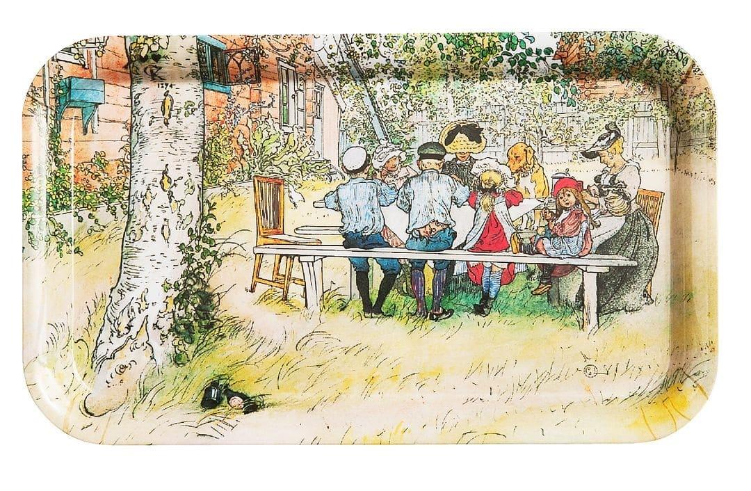 Carl Larsson - Frukost under stora björken - Serveringsbricka