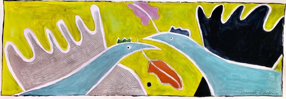 Jeanette Karsten - Birds gathering a happy message