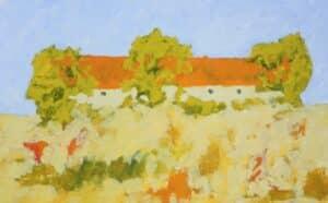 Anders Palmér - Den övergivna ladan oljemålning.