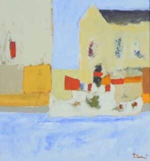 Anders Palmér - Slottsviken oljemålning