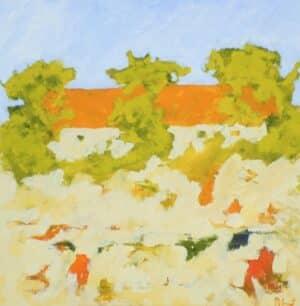 Anders Palmér - Tre träd oljemålning.