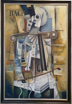 Anders Thomasson - Bach Cellosuites oljemålning köpa konst.